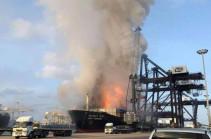 Пожар на торговом судне в южной части Ирана потушили