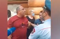 Полицейские задержали Ваагна Чахаляна на Баграмяна 26