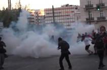 В Афинах на протестах арестовали девять человек