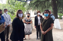 U.S. Ambassador to Armenia help deliver equipment and furniture to Tavush region as part of a project to strengthen the field of social work in Armenia