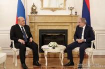 Премьер-министры Армении и России обсудили ситуацию на армяно-российской границе