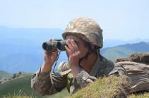 Противник открыл огонь из снайперских винтовок в направлении армянских позиций