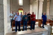 Серж Саргсян с боевыми друзьями посетил монастырский комплекс Амарас