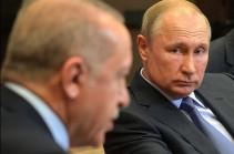 Путин и Эрдоган обсудили напряженность между Арменией и Азербайджаном
