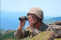 На границе сохранялось относительное затишье: противник произвел в направлении армянских позиций 155 выстрелов – Минобороны Армении