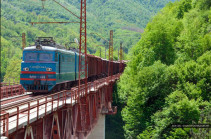 ЮКЖД не прогнозирует проблем с доставкой грузов в/из Армении из-за строительства путепровода на железнодорожном перегоне в Тбилиси