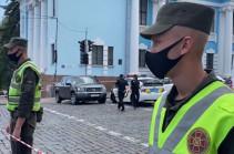 Появилось видео с места захвата заложника в киевском бизнес-центре (Видео)