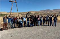 Новая охранная служба компании «Лидиан Армения» перенесла вагоны-домики защитников Амулсара, установив вместо них свои – Армянский экологический фронт