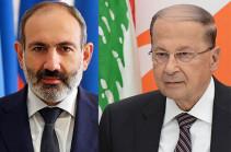 Armenia's PM holds phone conversation with Lebanese President Michel Aoun