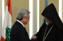 Серж Саргсян провел телефонный разговор с Католикосом Великого Дома Киликийского Арамом Первым