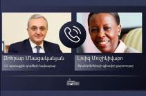 Зограб Мнацаканян и Луиз Мушикивабо обсудили вопросы оказания гуманитарной помощи Ливану