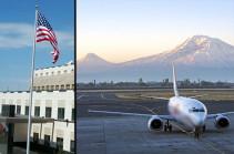 Посольство США запретило своим сотрудникам пользоваться услугами армянских авиаперевозчиков