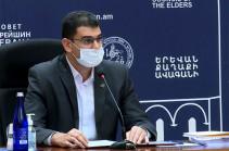 Yerevan mayor feels unwell, misses Council of Elders session