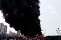 Big fire at Beirut port rattles residents a month after huge explosion