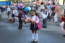 Հայաստանում այսօր առաջին դասարան գնաց ավելի քան 38.000 երեխա