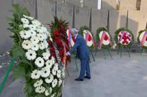 Armenia's third president Serzh Sargsyan visits Yerablur