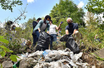 Վանաձոր գետի ափամերձ տարածքից հավաքվել է 450 պարկ աղբ
