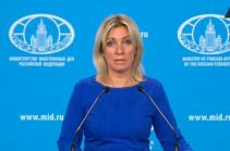 Ադրբեջանի խորհրդարանի ղեկավարի հետ Լավրովը քննարկել է ԼՂ հակամարտության սկզբունքներն, այդ թվում՝ տարածքներն ազատելու հարցեր. Զախարովա