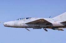 В Сербии упал самолёт МиГ-21 ВВС