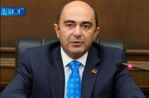 Премьер должен дать разъяснение парламенту об обмене «конфиденциальной» информацией в рамках проводимых переговоров с Азербайджаном – Эдмон Марукян