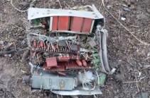 Кадры уничтоженного азербайджанского беспилотника (Видео)