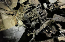 Banak.info. Ստեփանակերտում խոցվել է ադրբեջանական Harop տեսակի երկու ԱԹՍ (Լուսանկարներ)