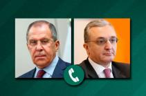Главы МИД Армении и России поговорили по телефону