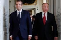 Макрон позвонил Путину по вопросу войны в Карабахе