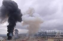 Azerbaijani Forces Bombing Civilians in Stepanakert. Bars Media