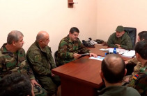 Armenia's PM arrives in Arstakh, conducts consultation with highest commander staff (video)