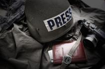 Few journalists wounded during shelling of Shushi's Ghazanchetsots Church