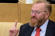 Милонов поблагодарил Баку за его включение в черный список Азербайджана