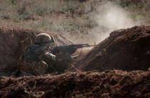 Интенсивные боевые действия продолжались в течение дня, особенно тяжело было на южном направлении – президент Карабаха