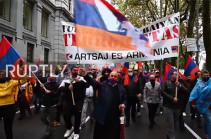 Испания: проармянские протестующие осудили нагорно-карабахский конфликт на марше в Мадриде (Видео)