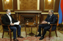 Discussion of concessions amid hostilities untimely: Armenia's PM says diplomatic solution possible after issue of terrorists is settled