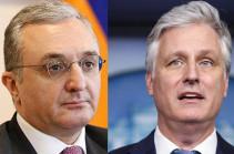 Զոհրաբ Մնացականյանն ու ԱՄՆ Ազգային անվտանգության հարցերով խորհրդականը հայտարարել են Ղարաբաղում կրակի դադարեցման անհրաժեշտությունը