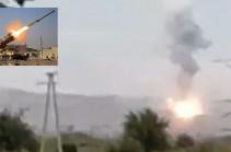 Ադրբեջանական ՏՕՍ-1Ա ծանր հրանետային համակարգի խոցումը (Տեսանյութ)