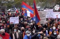 Լեռնային Ղարաբաղի հակամարտության ֆոնին Փարիզում հանրահավաք է անցկացվել (Տեսանյութ)