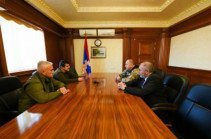 Artsakh President Arayik Harutyunyan received head of the Volunteers' Union of Crimea Armen Martoyan