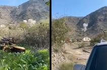 Armenia's MOD releases footage of Azerbaijani side targeting Armenian border (video)
