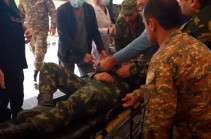 Azerbaijani side targets Armenia's southern border, the wounded are trasnported to medical establishments (video)