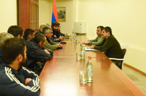 Volunteer squad consisting of Armenian community of Abkhazia arrived in Nagorno Karabakh