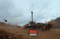 """Wargonzo: """"Гвоздика"""" howitzers destroy Azeri subversive groups (video)"""