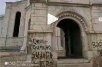 Азербайджанцы осквернили церковь Сурб Аменапркич Казанчецоц в Шуши (Фото)