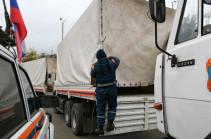 В Степанакерт прибыла вторая колонна МЧС с гуманитарным грузом