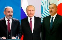 Путин обсудил с Пашиняном и Алиевым работу миротворцев в Карабахе
