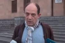 Правозащитник Аветик Ишханян уже на свободе, он был задержан по подозрению в избиении