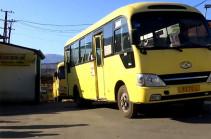 Возобновление работы общественного транспорта в Степанакерте (Видео)