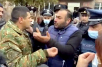 Parents of missing servicemen gather in front of Etchmiadzin military unit, demand meeting with deputy head of Chief of Staff of Armed Forces