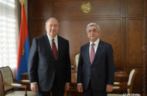 Armenia's president meets with Serzh Sargsyan